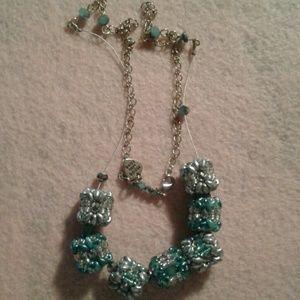 Jewelry - A handmade beaded genuine gemstone necklace